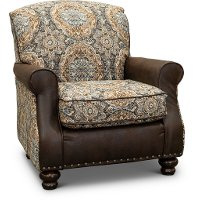 Traditional Desert Brown Chocolate Accent Chair - Cognac
