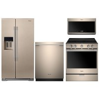 SBZ-4PC-ELE-PACKAGE Whirlpool 4 Piece Kitchen Appliance Package with Electric Range - Sunset Bronze