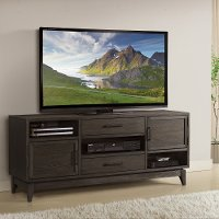 Walnut Brown Transitional 66 Inch TV Stand - Vogue