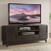 Walnut Brown Transitional 74 inch TV Stand - Vogue