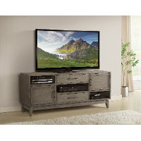 Washed Gray Transitional 66 Inch TV Stand - Vogue