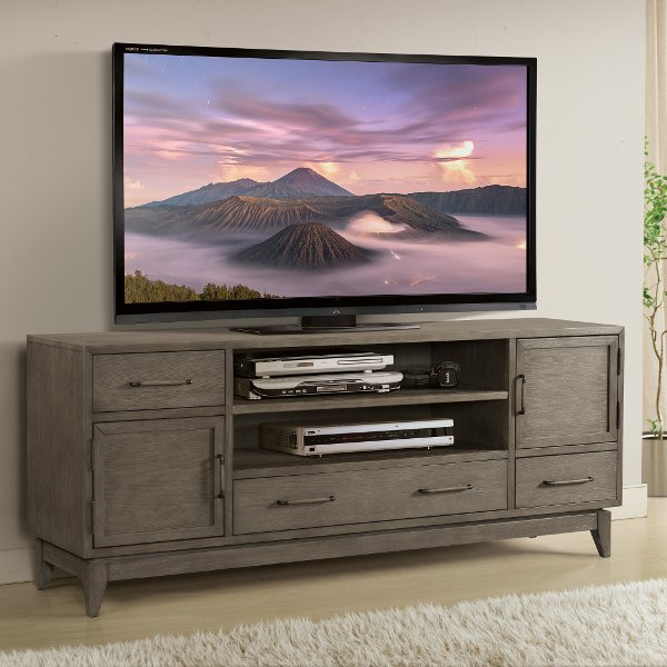 ... Washed Gray Transitional 75 Inch TV Stand   Vogue ...