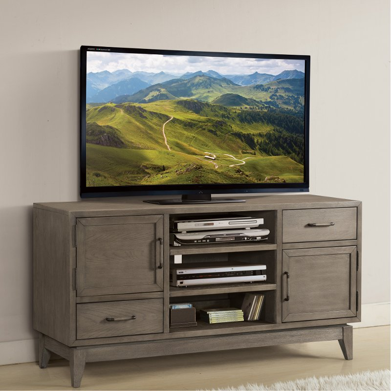 Washed Gray Transitional 55 Inch Tv Stand Vogue