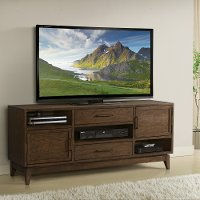Brown Transitional 66 Inch TV Stand - Vogue