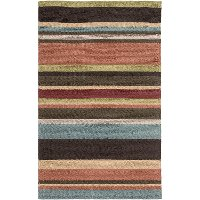 RAI1091-810 8 x 10 Large Multi-Colored Indoor-Outdoor Rug - Rain