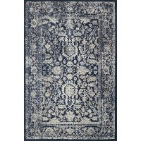 5 x 8 Medium Indigo Blue Rug - Everly