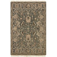 OH-02MHSLATE7.9X9.9 8 x 10 Large Transitional Slate Gray Area Rug - Hanover