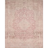 5 x 8 Medium Terracotta and Ivory Area Rug - Lucca