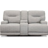 Sterling Gray Power Reclining Loveseat - Stanza