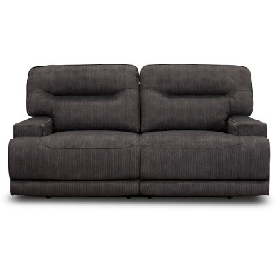 Charcoal Gray Power Reclining Sofa - Stanza