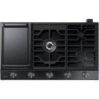 NA36N6555TG Samsung 36 Inch Smart Gas Cooktop with Griddle - Black Stainless Steel