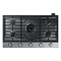 NA36N7755TS Samsung 36 Inch Smart Gas Cooktop with 22K BTU Dual Power Burner - Stainless Steel