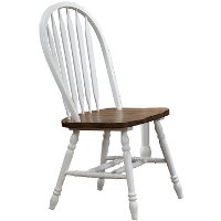 Two-Tone White and Brown Dining Chair - Pacifica