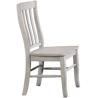 Light Gray Rustic Rake Back Dining Room Chair - Carmel