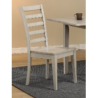 Light Gray Rustic Ladder Back Dining Room Chair - Carmel