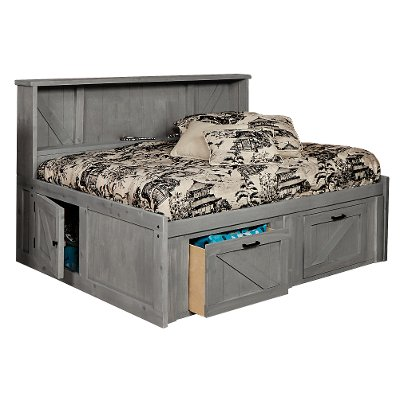 Rustic Gray Full Roomsaver Storage Bed - Urban Ranch