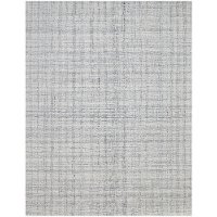LAU17696 8 x 10 Large Gray and Ivory Area Rug - Laurel