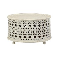 Contemporary White Round Coffee Table - Marguerite