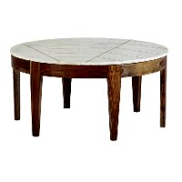 Brown and White Marble Coffee Table - Marmoreal