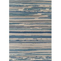 8 x 10 Large Indoor-Outdoor Silver and Blue Rug - St. Croix