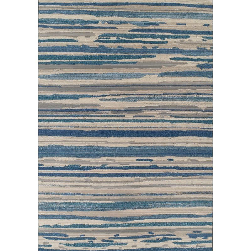 Indoor Outdoor Silver And Blue Rug