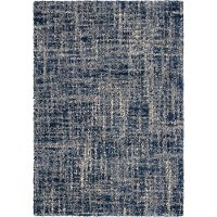 8 x 11 Large Transitional Navy Blue Rug - Cotton Tail