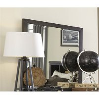 Industrial Rustic Gray Mirror - Thornwood Hills