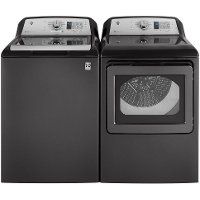 KIT GE Top Load Washer and Dryer Laundry Set - Diamond Gray Electric