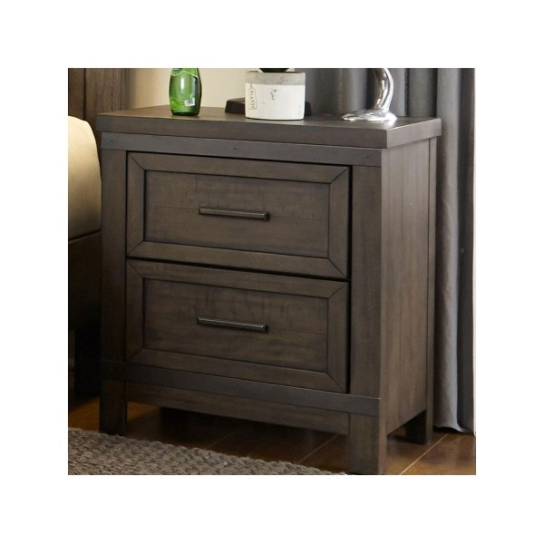 Classic White Nightstand   Bayfront24999 Industrial Rustic Gray Nightstand    Thornwood Hills