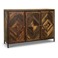 Brown Dining Room Sideboard - Perspective