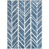 8 x 10 Large Bamboo Ivory and Blue Rug - Naturals