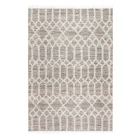 5 x 7 Medium Beige and Ivory Area Rug - Naturals