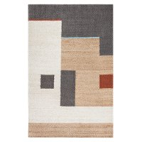 8 x 10 Large Natural, Ivory and Gray Area Rug - Naturals