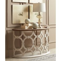 Smokey White Sofa Table - Elizabeth