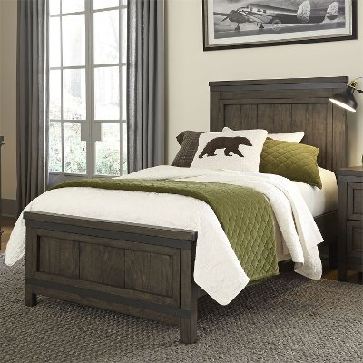 Industrial Rustic Gray Twin Bed - Thornwood Hills