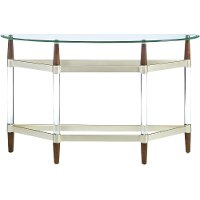 Contemporary Glass Top Sofa Table - Michigan Ave.