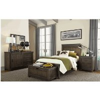 Industrial Rustic Gray 4 Piece Twin Bedroom Set Thornwood Hills