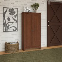 Light Cherry Brown Tall Storage Cabinet - Buena Vista