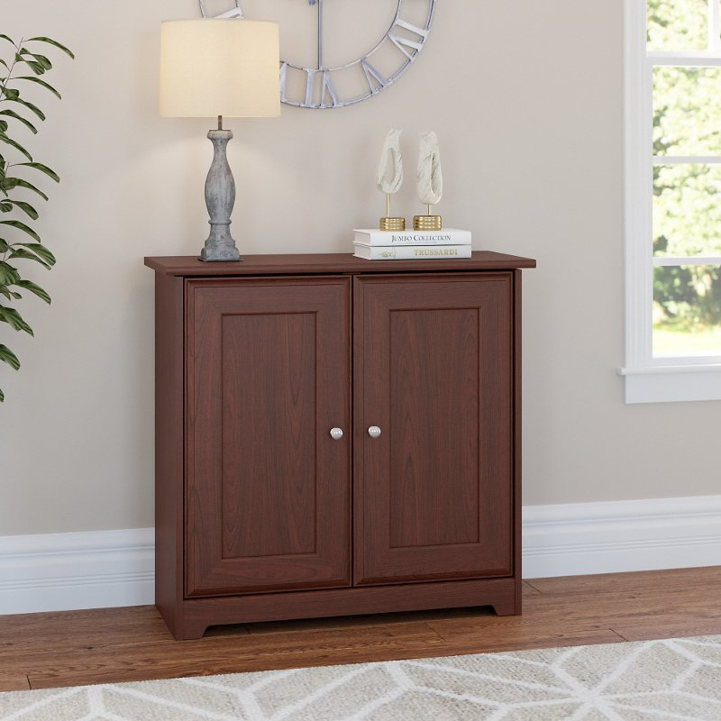 Harvest Cherry Small Storage Cabinet With Doors Cabot