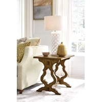 Traditional Wheat Brown Rectangular End Table - Ashland