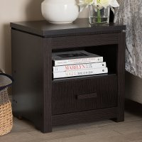 146-8265-RCW Contemporary Dark Brown Nightstand - Bienna