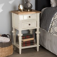 133-7192-RCW 2-Drawer 2-Toned Nightstand