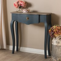 146-8179-RCW Provincial Blue Spruce Finished Console Table - Mazarine