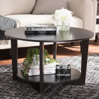 146-8276-RCW Modern and Contemporary Wenge Brown Coffee Table - Belina