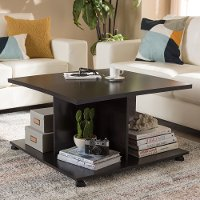 146-8279-RCW Modern and Contemporary Wenge Brown Coffee Table - Cladine