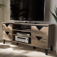 137-7561-RCW Modern and Contemporary Light Brown 55 Inch TV Stand - Beacon