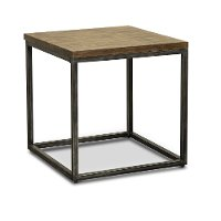 Brown Industrial Rustic End Table - Chandler