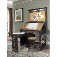 Two-Tone Urban Architects Drafting Desk - Lincoln Park