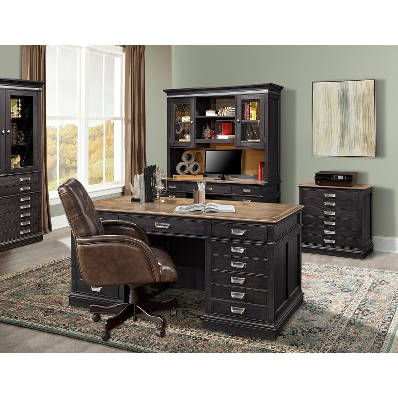 Two Tone Urban Executive Office Desk Lincoln Park