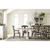 Linen and Elm 5 Piece Dining Set with Splat Back Chairs - Brookhaven